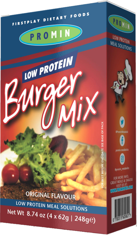 PKU Burger mix original 4x62g